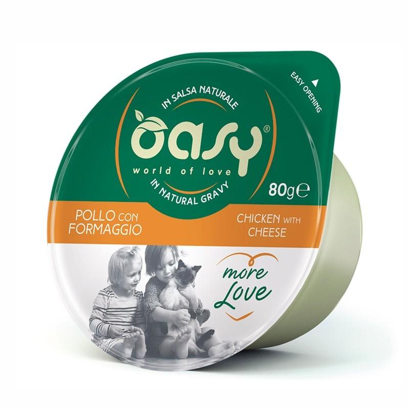 Oasy More Love Pollo e Formaggio per Gatti Cup 70gr