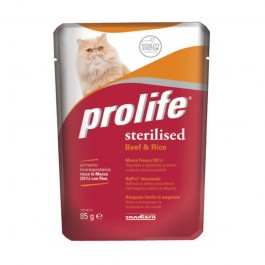 Prolife Gatto Sterilized Manzo 85g