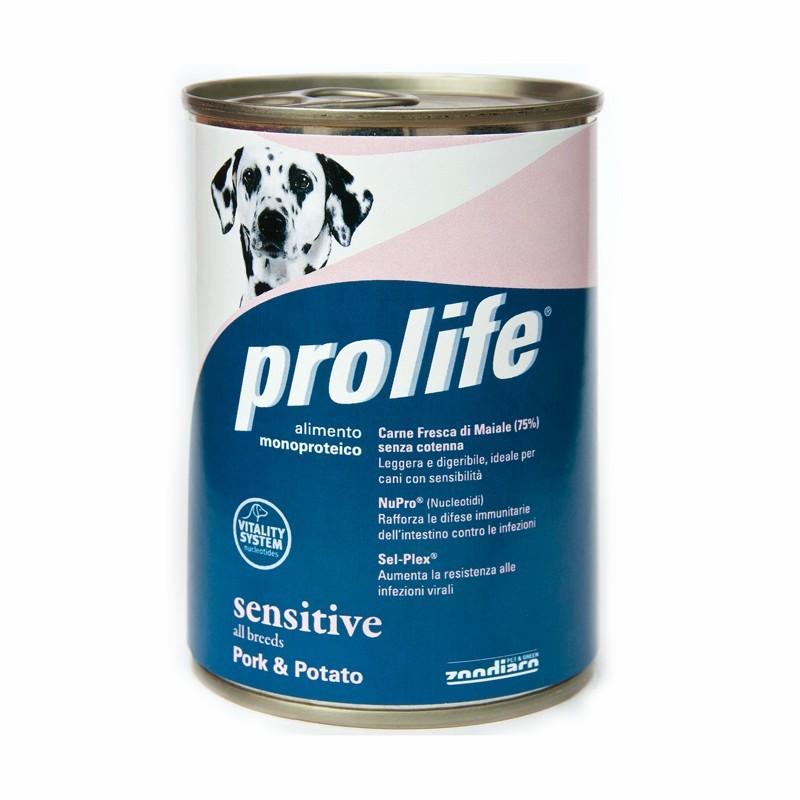Prolife Adult Sensitive Maiale Umido per Cani 400gr