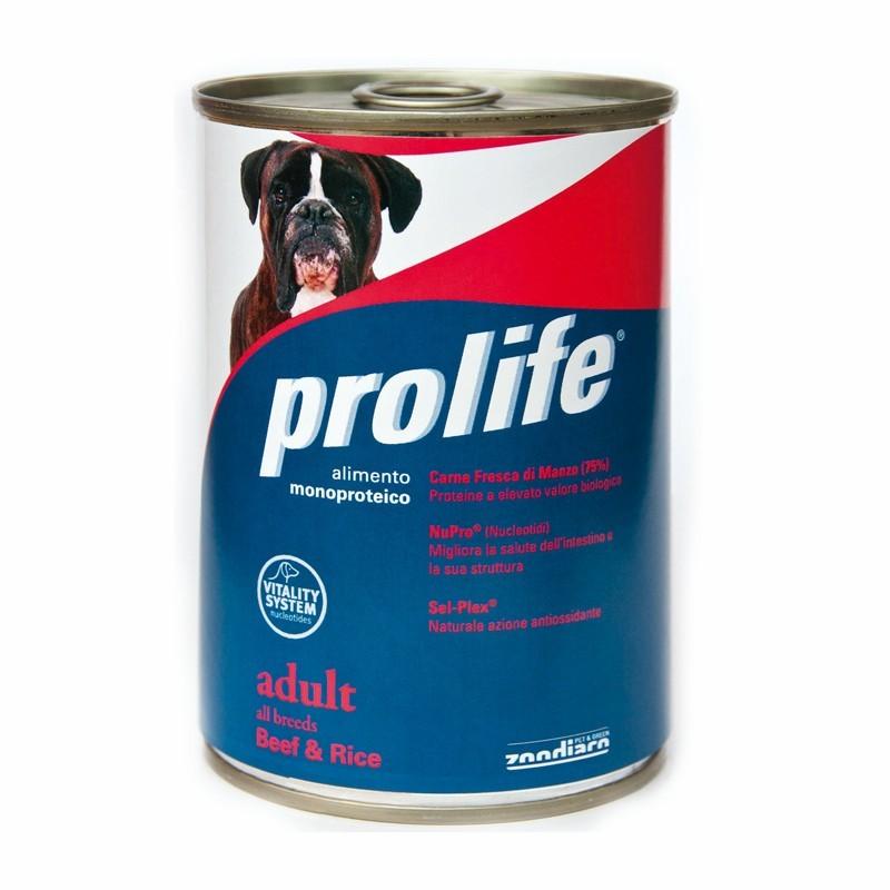 Prolife Adult al Manzo Umido per Cani