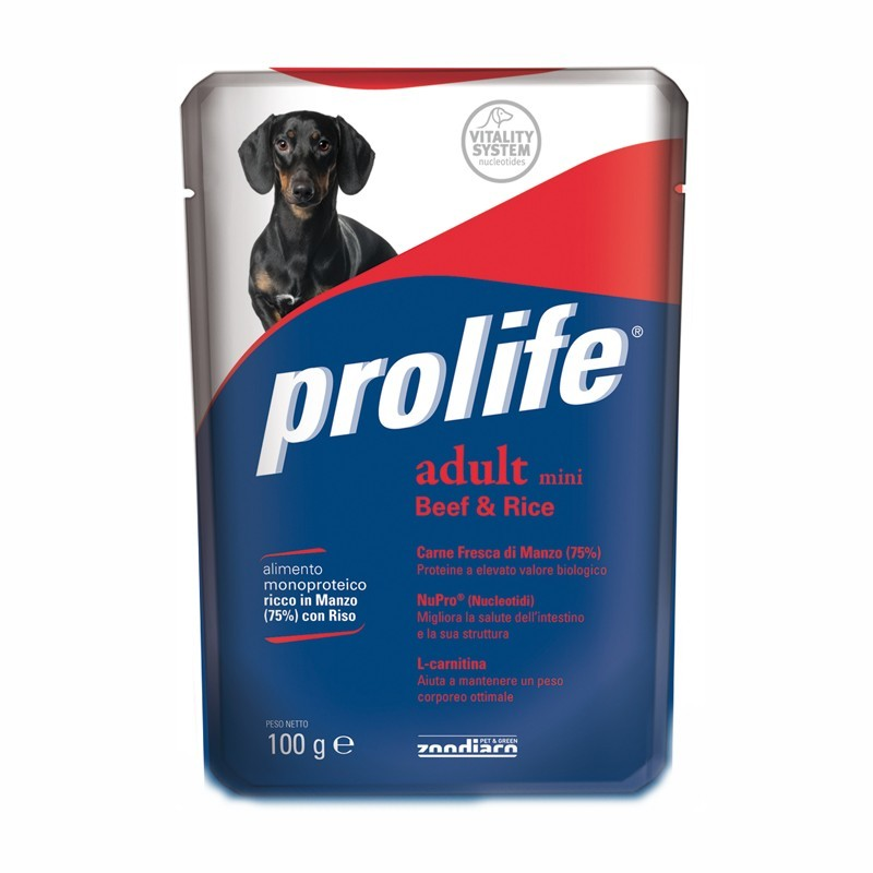 Prolife Adult Mini al Manzo Umido per Cani 100gr