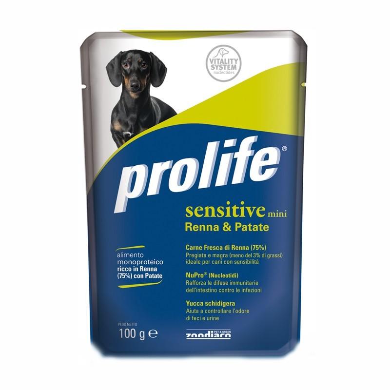 Prolife Adult Mini Sensitive Renna Umido per Cani 100gr