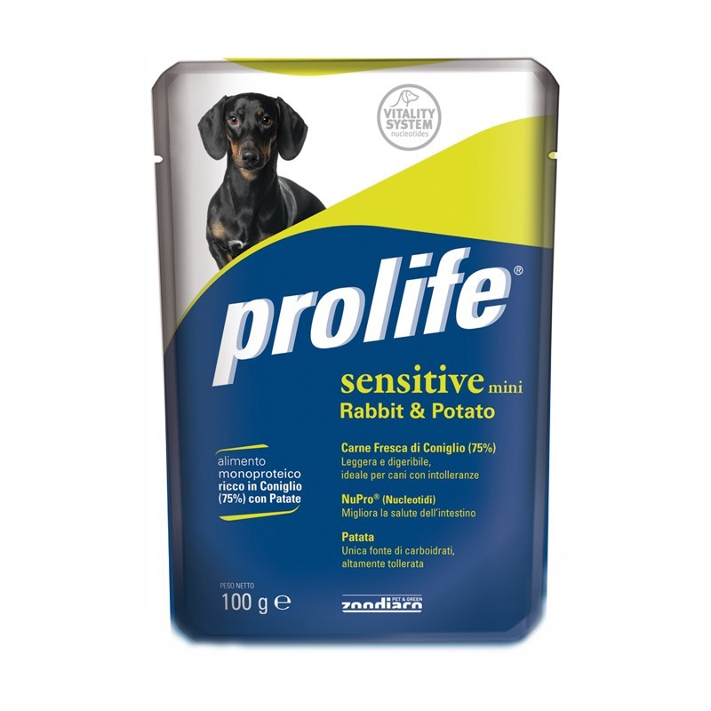 Prolife Adult Mini Sensitive al Coniglio Umido per Cani 100gr