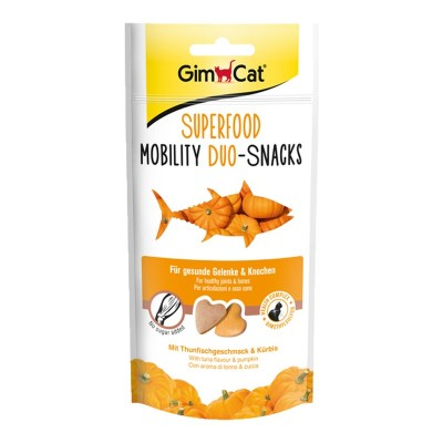 GimCat Superfood Mobility Duo Snacks Tonno e Zucca 40g
