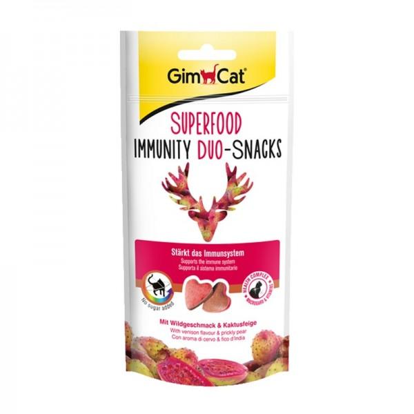 GimCat Superfood Immunity Duo Snacks Cervo e Fico d'India 40g