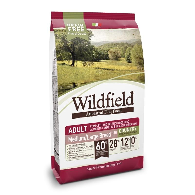 Wildfield Adult Country Medium Large Maiale, Coniglio E Uova