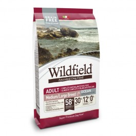 Wildfield Adult Ocean Medium Large Aringa, Salmone E Tonno