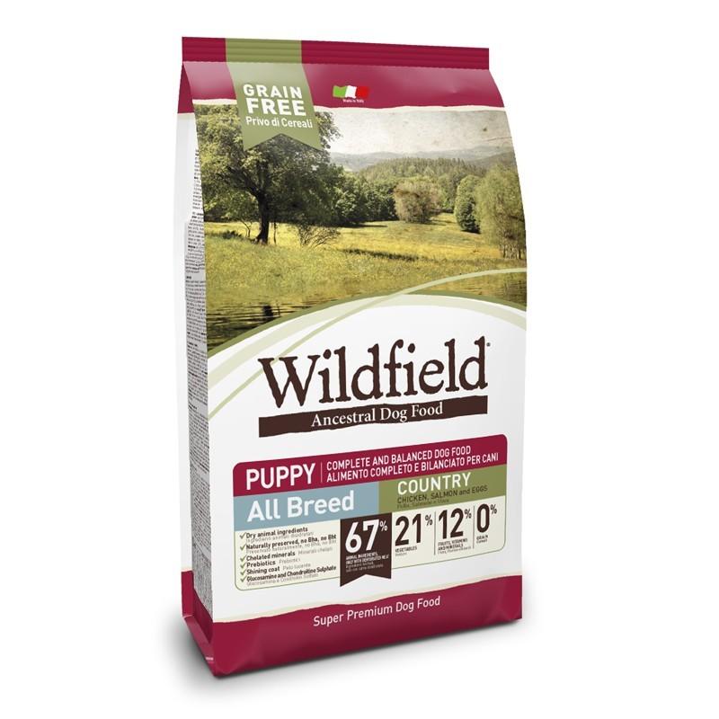Wildfield Puppy Country All Breeds Pollo, Salmone E Uova