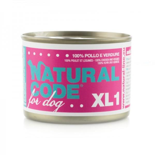 Natural Code XL Pollo e Verdure per Cane