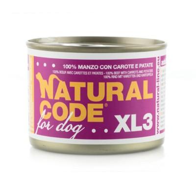 Natural Code XL Manzo, Carote e Patate per Cane