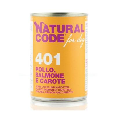 Natural Code Pollo, Salmone e Carote per Cane