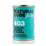 Natural Code Vitello, Aringa e Zucca per Cani 400gr