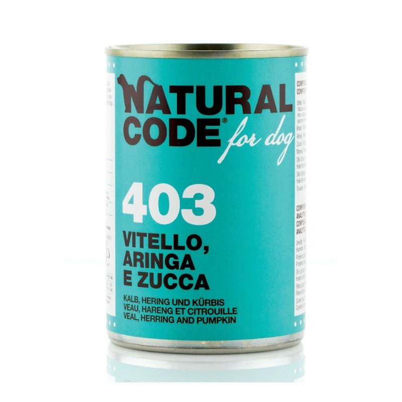 Natural Code Vitello, Aringa e Zucca per Cane