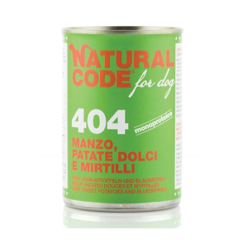 Natural Code Manzo, Patate Dolci e Mirtilli per Cane