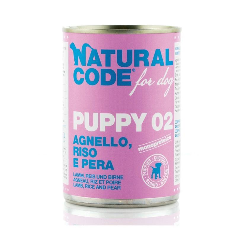 Natural Code Puppy Agnello, Riso e Pera per Cani 400gr