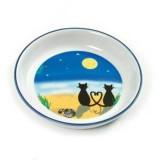Karlie Ciotola in Ceramica con Gatti e Luna