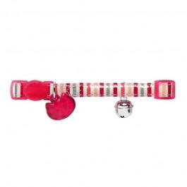 Hunter Collare Glossy Stripes Rosa per Gatti