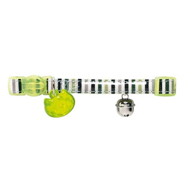 Hunter Collare Glossy Stripes Verde per Gatti