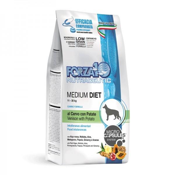 Forza10 Cane Medium Diet Cervo e Patate Secco