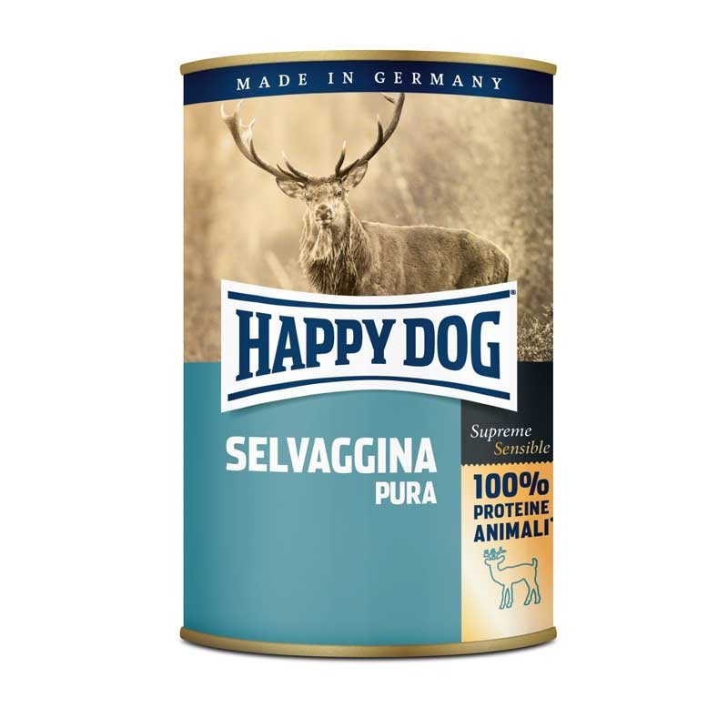 Happy Dog Monoproteico Selvaggina Pura per Cani