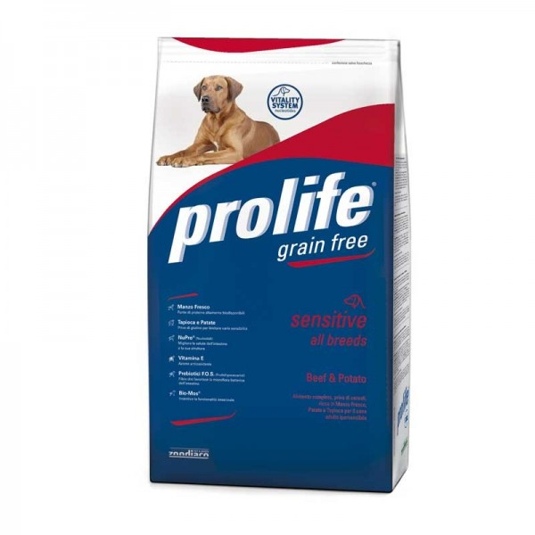 Prolife Grain Free All Breeds Manzo & Patate