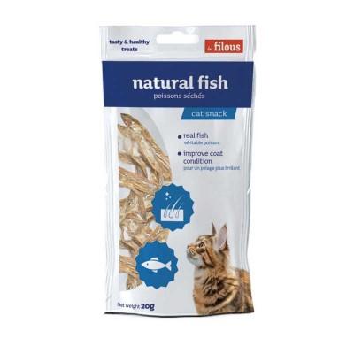 Les Filous Pesce Naturale Essiccato per Gatti