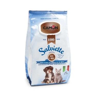 Camon Salviette Latte & Miele Maxi Formato 100 pz