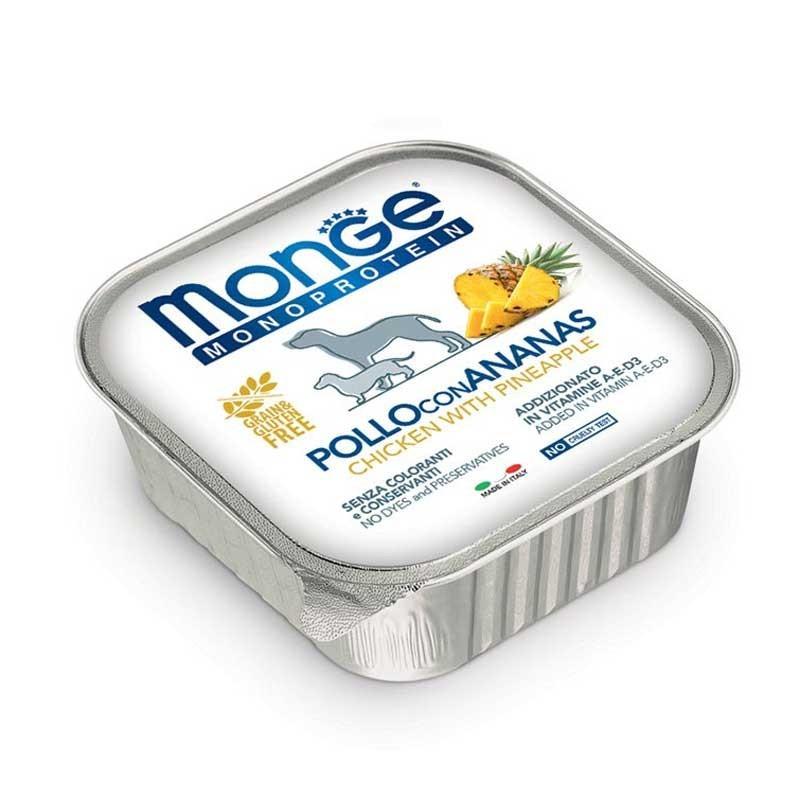Monge Monoprotein Pollo con Ananas per Cani 150gr
