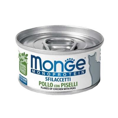 Monge Monoprotein Sfilaccetti Pollo con Piselli