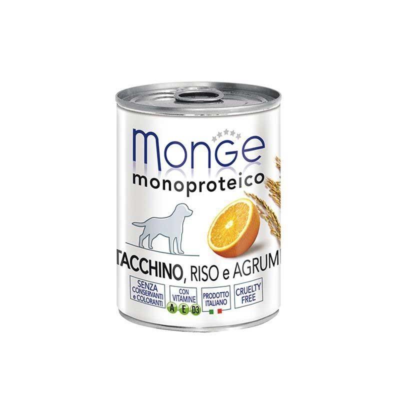 Monge Monoprotein Tacchino, Riso e Agrumi per Cani 400gr