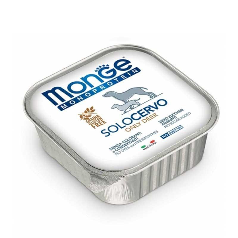 Monge Monoprotein Solo Cervo per Cani 150gr