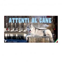 Farm Company Targa Attenti al Cane con Siberian Husky