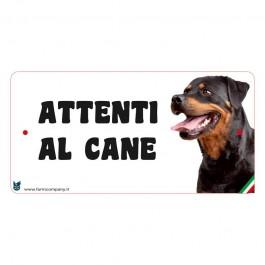 Farm Company Targa Attenti al Cane con Rottweiler