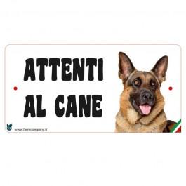 Farm Company Targa Attenti al Cane con Pastore Tedesco