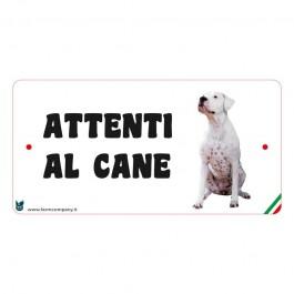 Farm Company Targa Attenti al Cane con Dogo Argentino