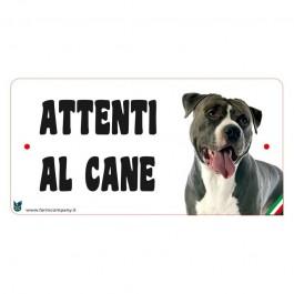 Farm Company Targa Attenti al Cane con Pitbull