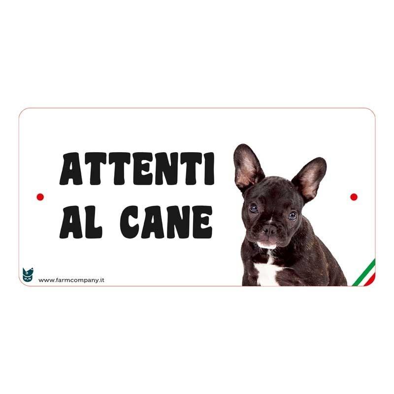 Farm Company Targa Attenti al Cane con Bulldog Francese