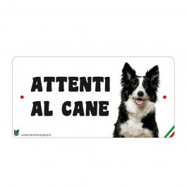 Farm Company Targa Attenti al Cane con Border Collie