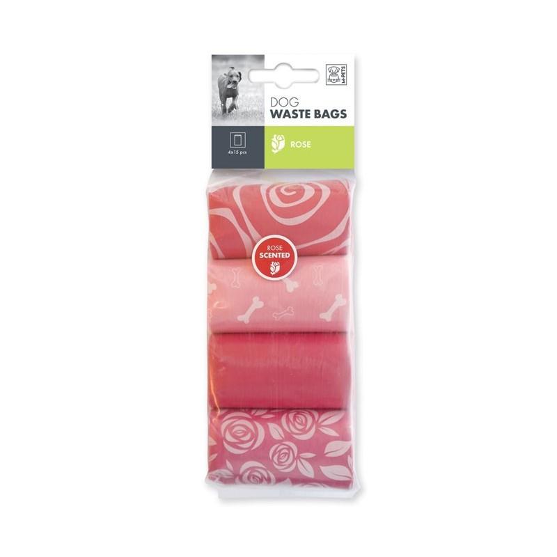 M-Pets Sacchetti Igienici alla Rosa