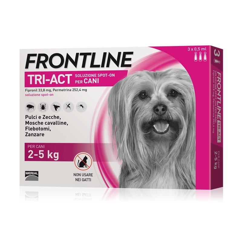 Frontline Tri-Act per Cani 2-5 Kg