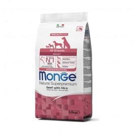 Monge Adult Monoprotein Manzo con Riso per Cani
