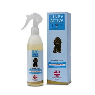 Linea 101 Shampoo Spray Igienizzante per Cani e Gatti