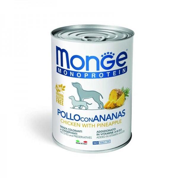 Monge Monoprotein Pollo, Riso e Ananas