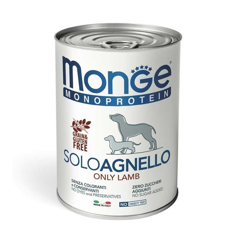 Monge Monoprotein Solo Agnello Umido per Cani 400gr