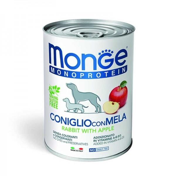 Monge Monoprotein Coniglio, Riso e Mela per Cani 400gr
