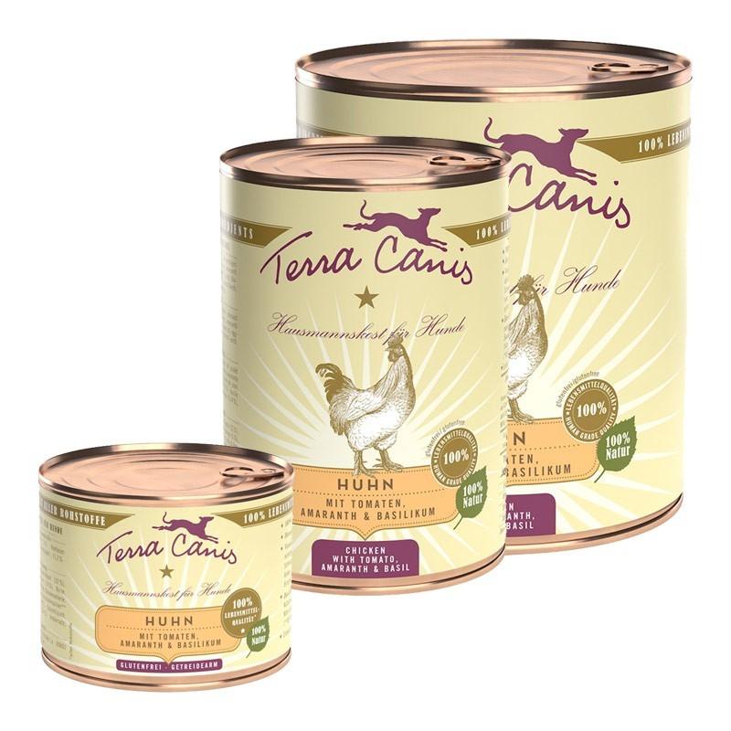 Terra Canis Pollo con Amaranto, Pomodori e Basilico per Cani