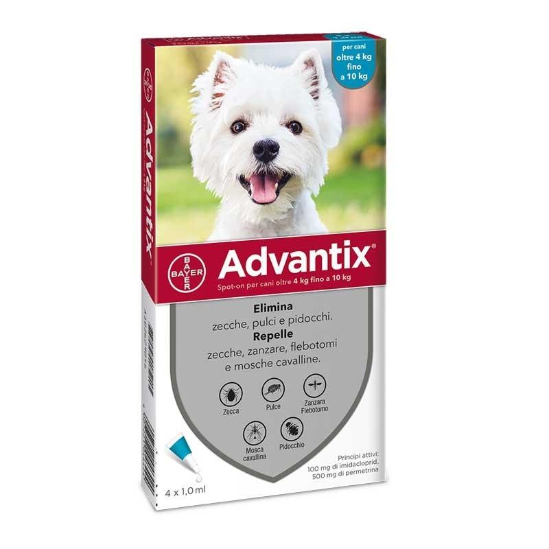 Bayer Advantix Spot-On 4-10Kg per Cani