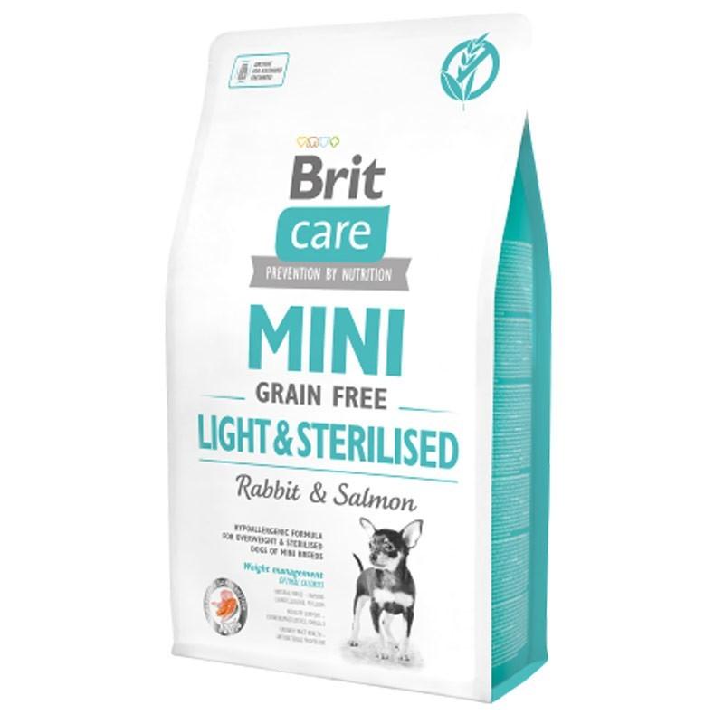 Brit Care Mini Grain Free Light & Sterilised Coniglio e Salmone