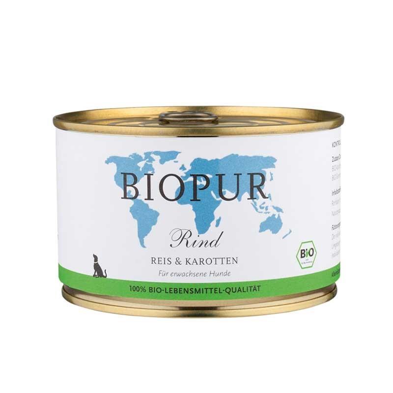Biopur Adult Manzo, Riso e Carote Umido per Cani 400 g