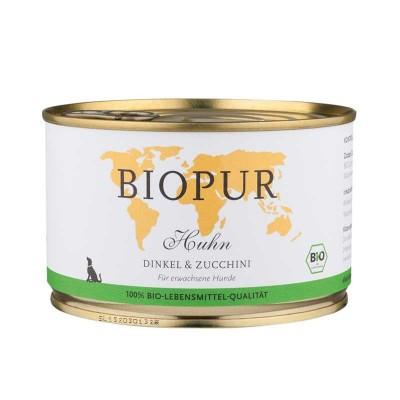 Biopur Adult Pollo, Farro e Zucchine Umido per Cani